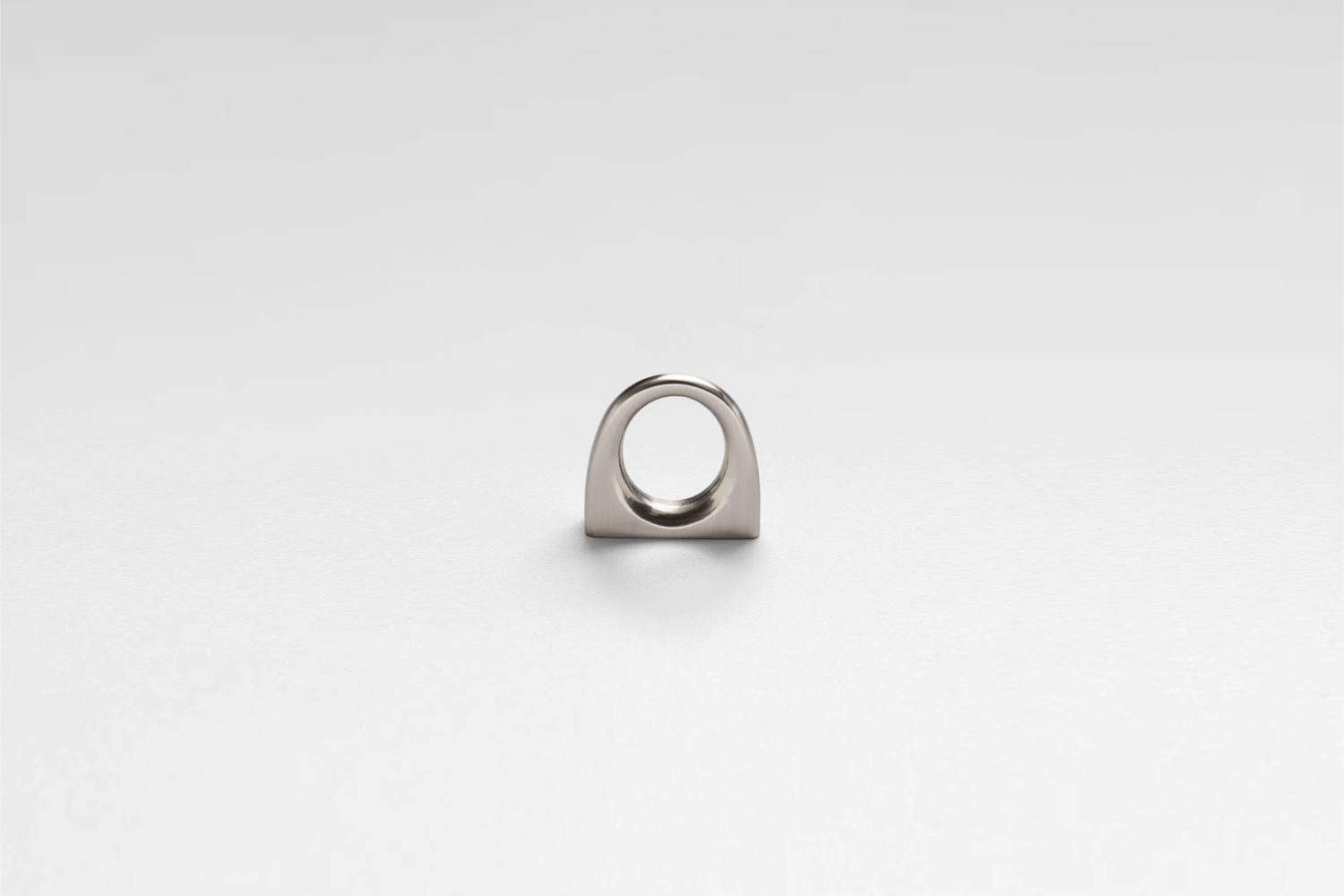 The Gateway Ring Pull in Satin Nickel is $ at Schoolhouse.