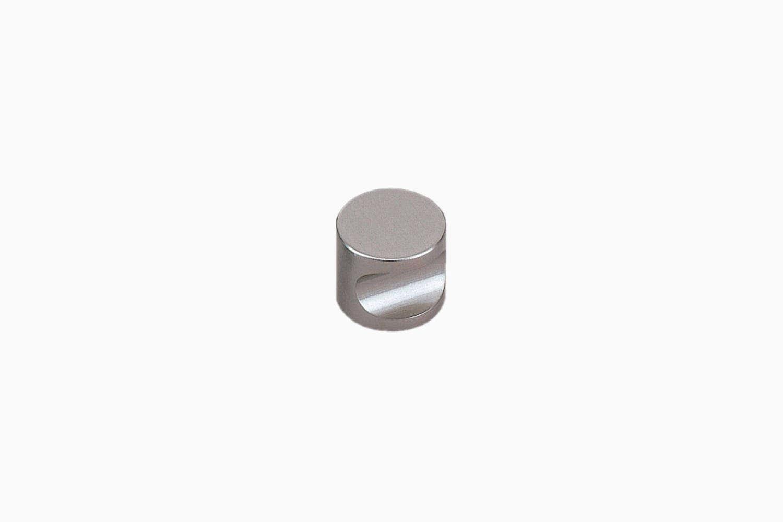 10 Easy Pieces Favorite Cabinet Pulls The Sugatsune Olmec Satin Nickel Round Knob is \$8.48 at Lowes.