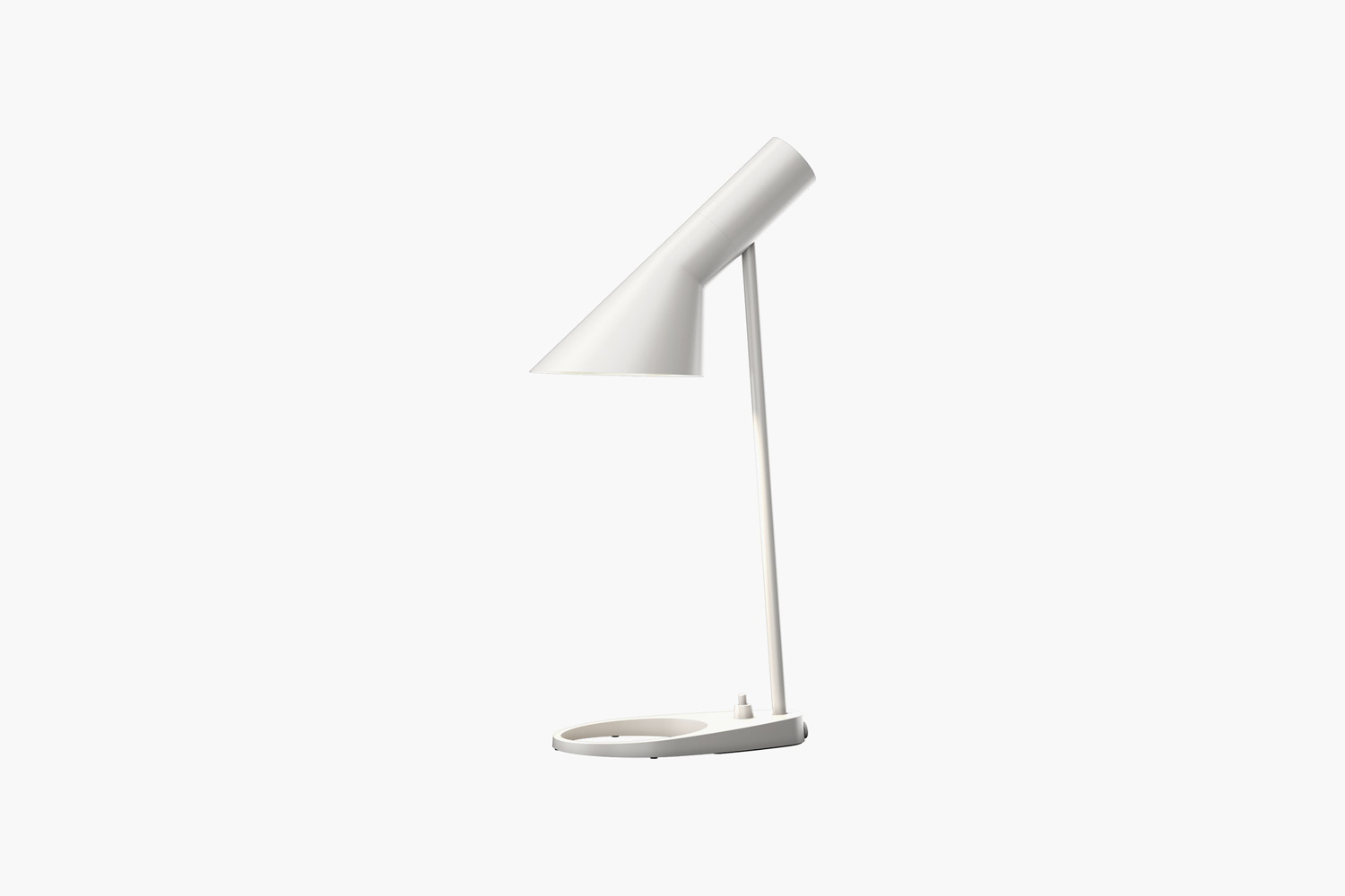 Designed by Arne Jacobsen, the AJ Table Lamp, shown in white, is $876 at Design Within Reach.