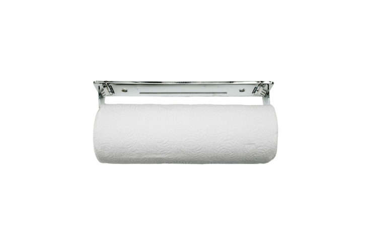 a standard roll holder is the fox run wall mounted paper towel holder (it&# 15