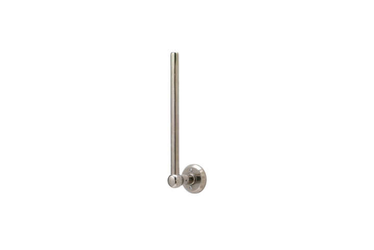 the rocky mountain vertical paper towel holder, shown in white bronze light, is 10