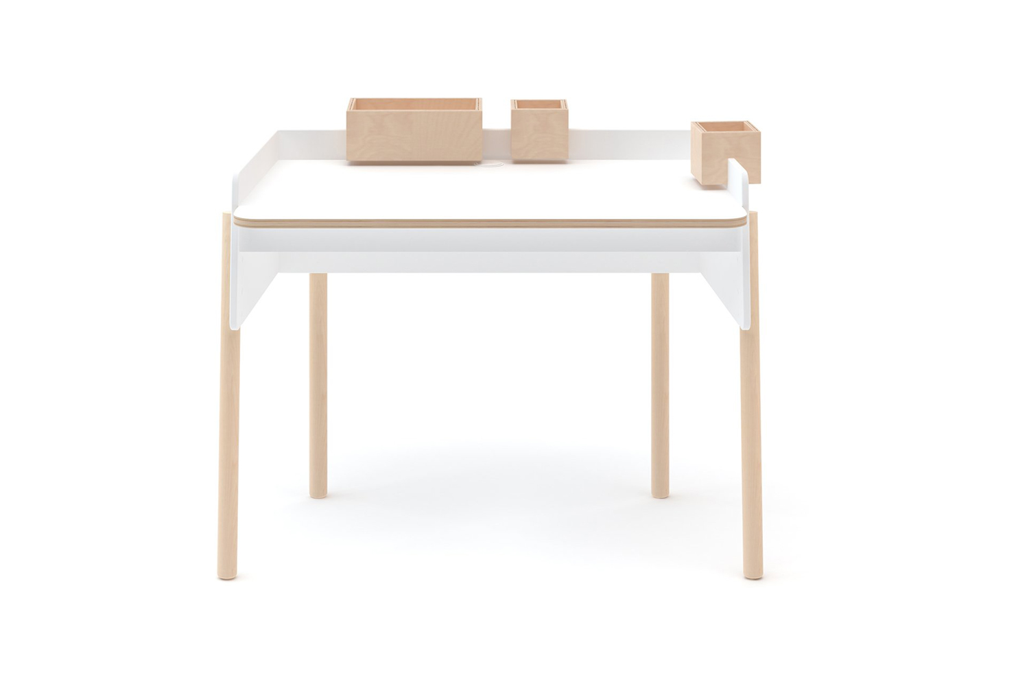 The Oeuf Brooklyn Desk in wood and white paint is $590 at Horne.