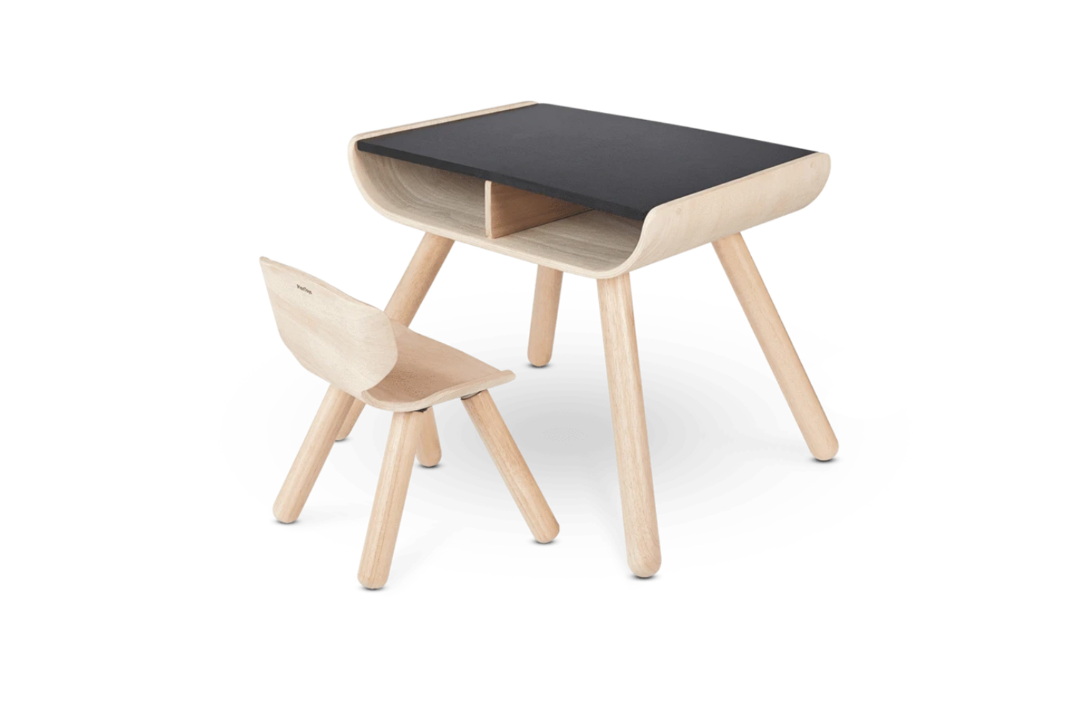 From PlanToys, the Table and Chair in Black is $0 at Burke Decor.