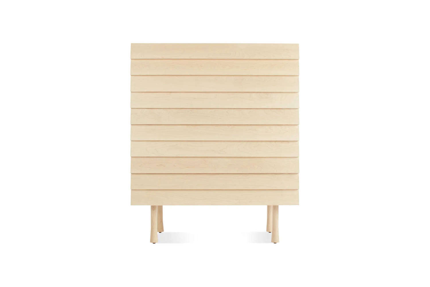 The Lap Tall 4 Drawer Dresser, shown in Whitewashed Maple, is $
