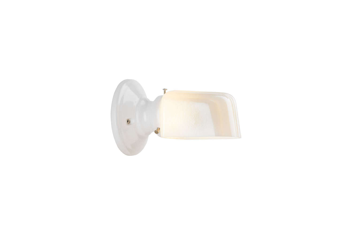 The retro-looking Hannah Sconce in White or Black is $