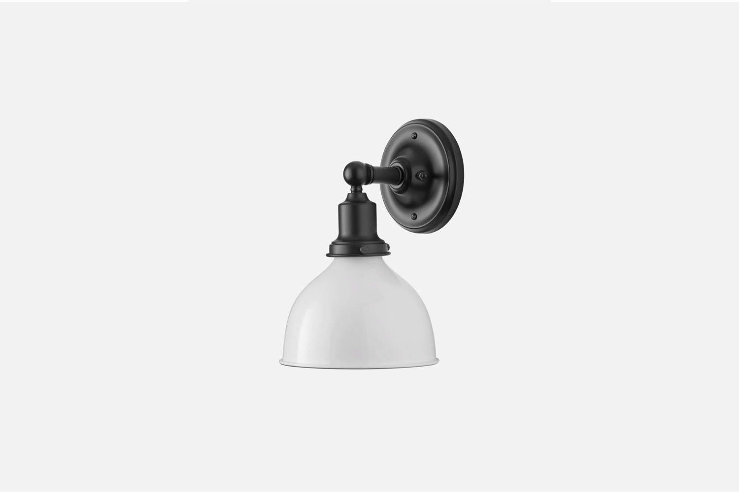 The Irvine Single Sconce comes in four different finishes; $9 at Schoolhouse.