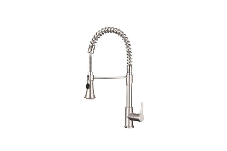 The Franke Bern Semi-Pro Kitchen Faucet features a 360-degree swivel spout; $4.09 on Amazon.