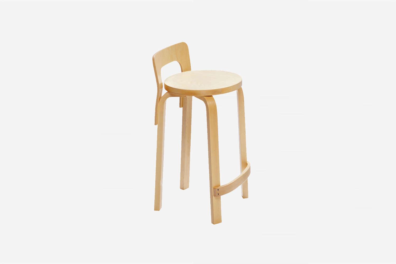 the artek aalto high chair k65 in birch is \$44\1 at finnish design shop. 11
