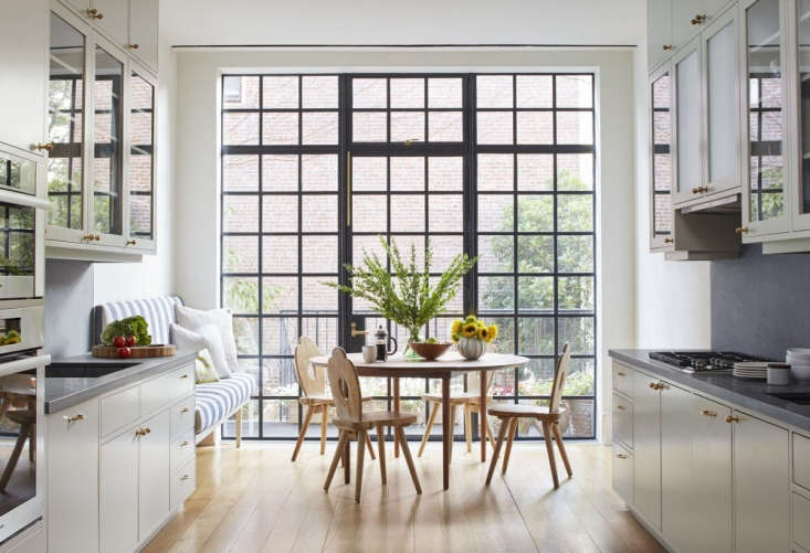 Architect Drew Lang chose A&S Windows of Brooklyn for the steel-framed French doors and balcony featured in A House United: Reimagining a Brooklyn Brownstone.Photograph by Ty Cole for Lang Architecture.