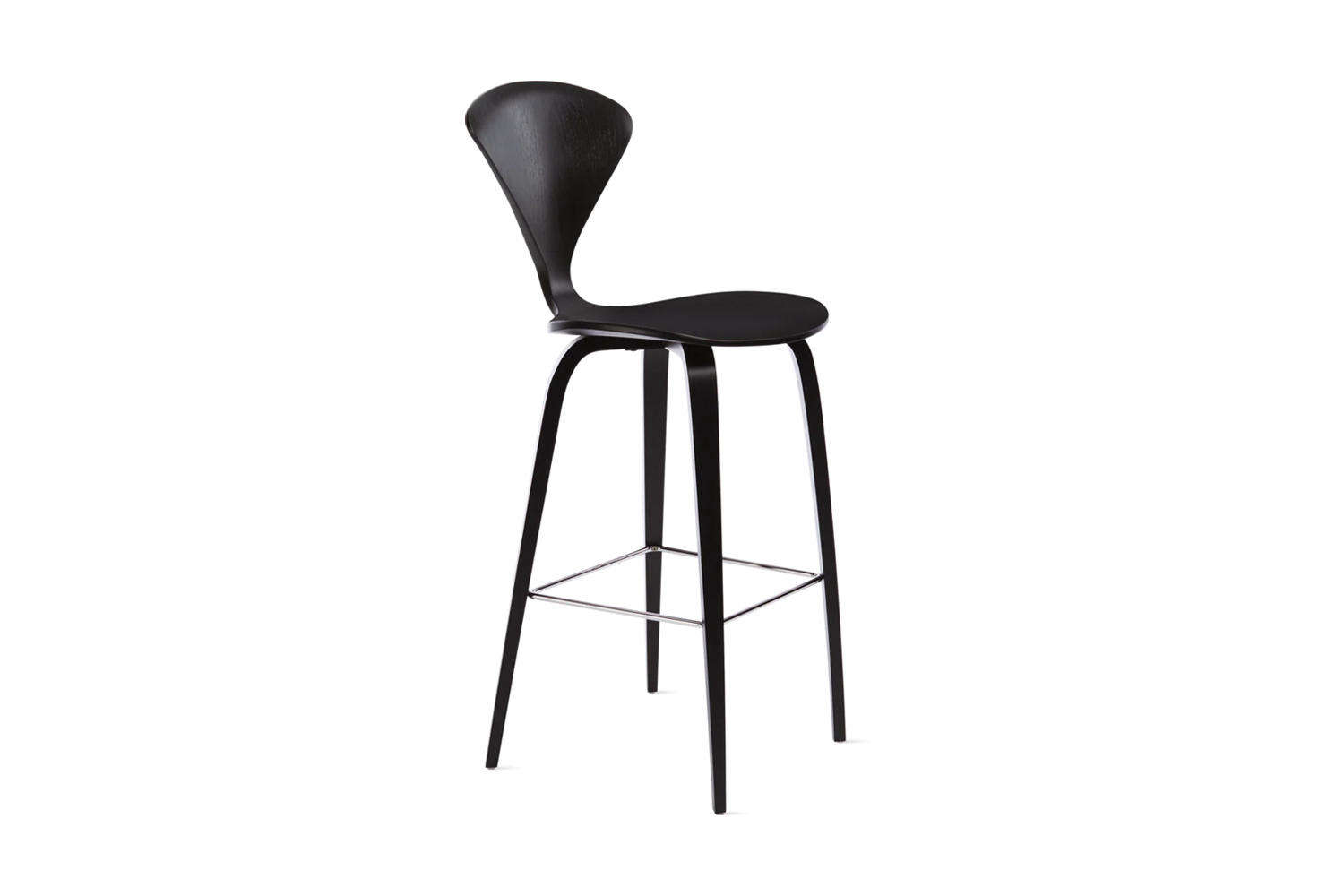 designed by norman cherner, the cherner stool comes in walnut or classic ebony  18