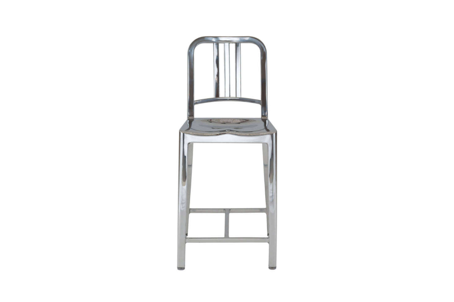 The Emeco Navy Stool, shown in Aluminum, comes in a wide range of colors; $895 at Hive.
