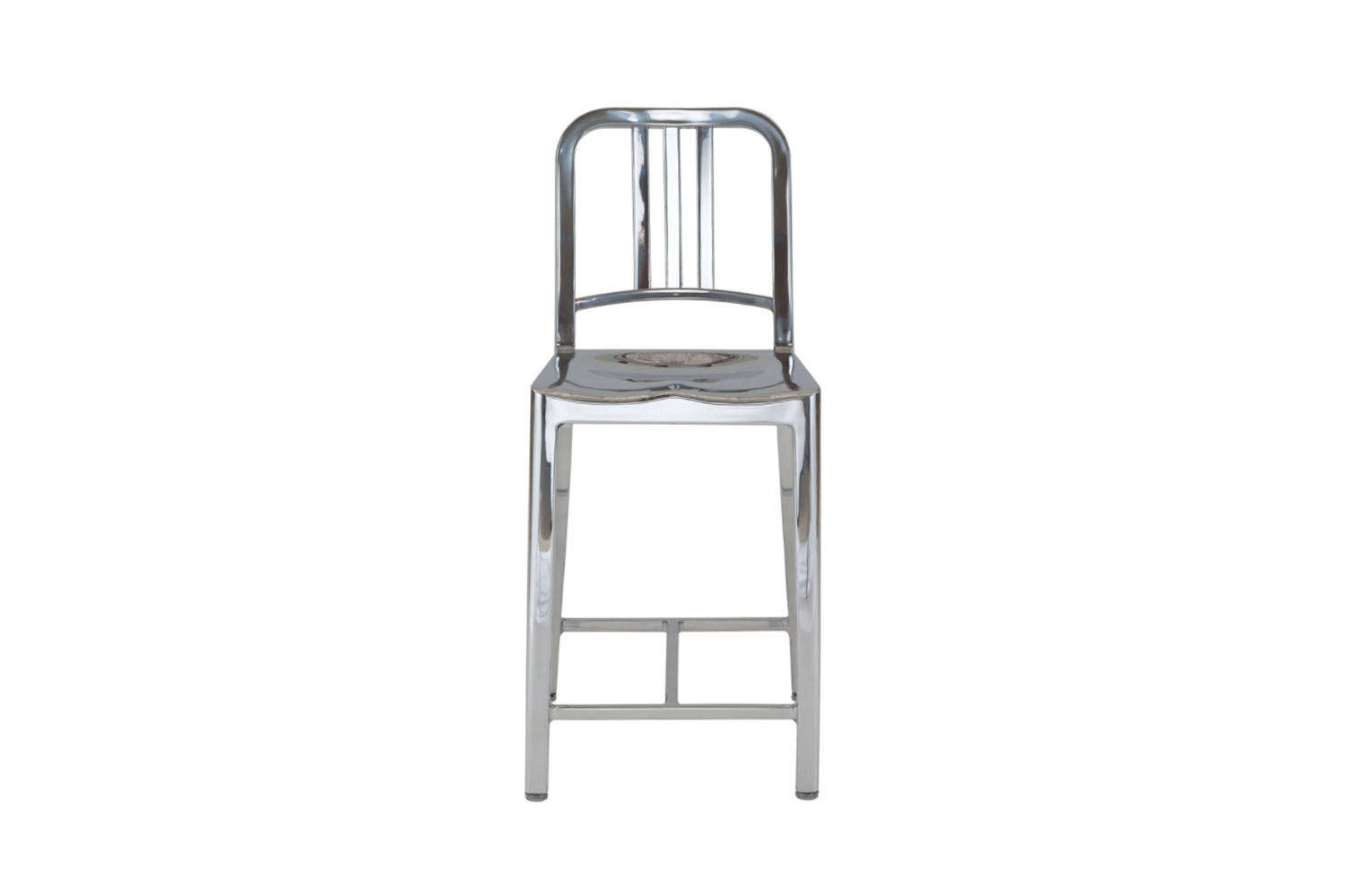 the emeco navy stool, shown in aluminum, comes in a wide range of colors; \$895 12