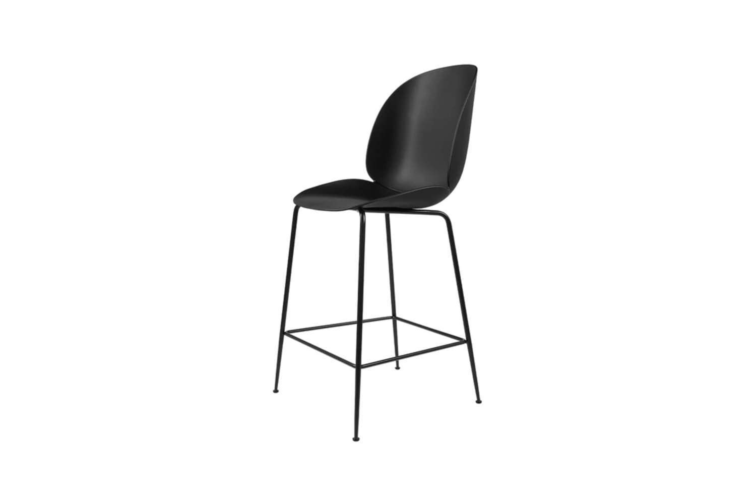 The Gubi Beetle Counter Stool is available in a range of colors for both the base and shell; $545 at Lekker Home.