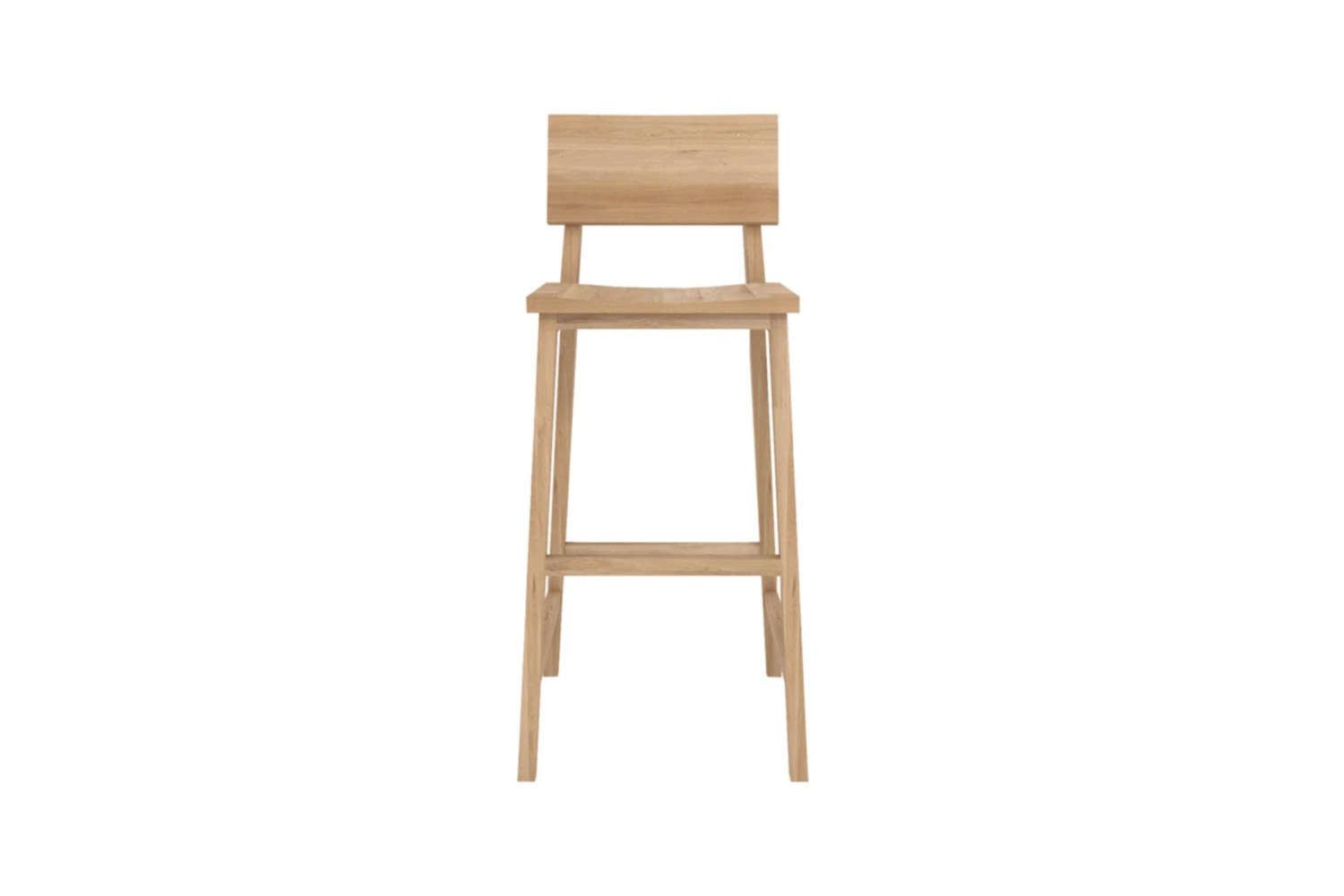 from ethnicraft, the n4 counter stoolin solid oak is \$359 at lekker home. 17