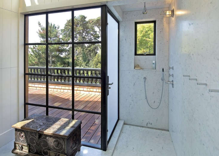 San Francisco architect Malcolm Davis used Crittall Windows for this indoor/outdoor shower featured in Expert Advice:  Essential Tips for Designing the Bathroom. This venerable company was founded in 89 in the UK and has provided windows and doors to Yale University, Walter Gropius, and the New York Botanical Gardens. Photograph courtesy of Malcolm Davis.