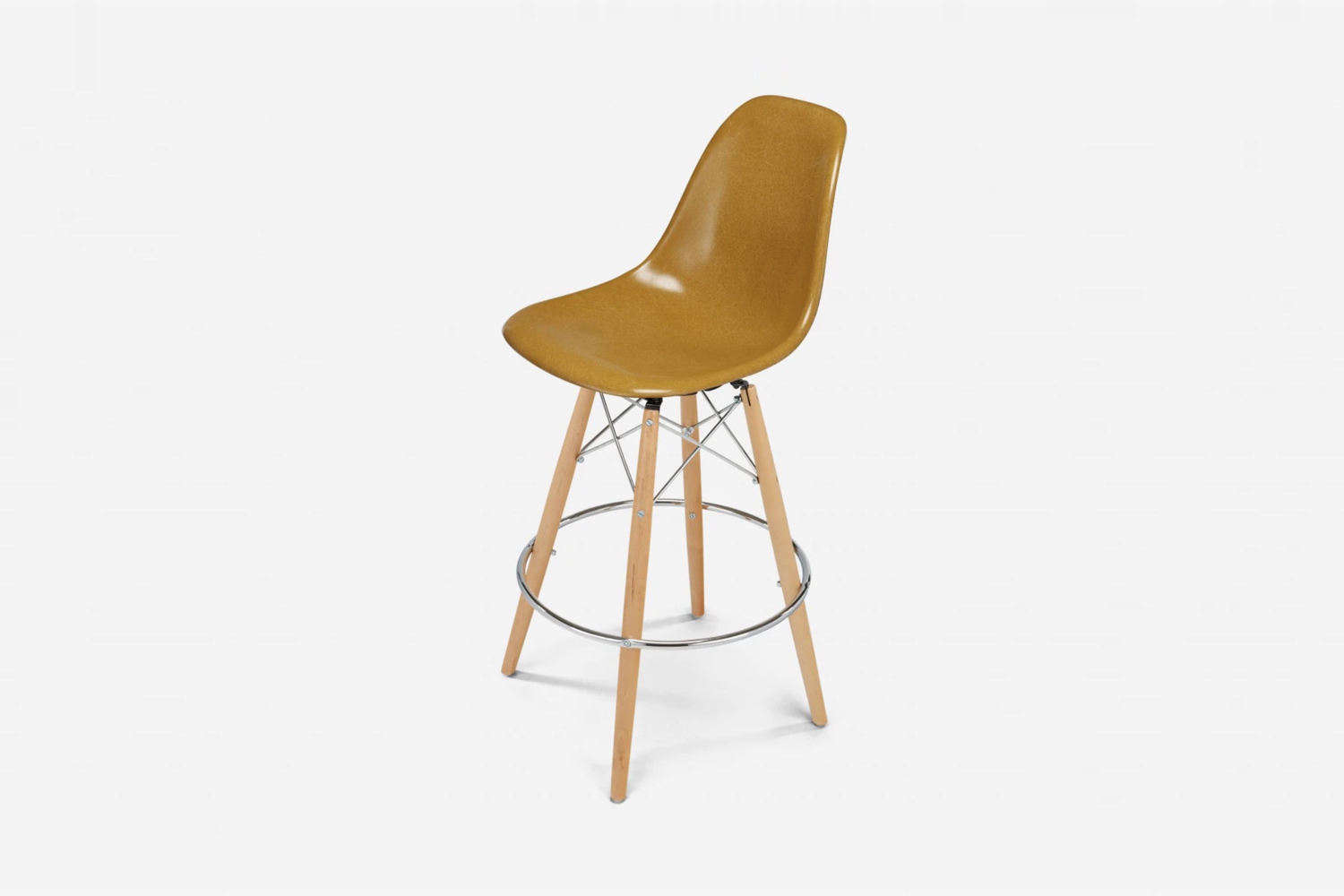 the case study furniture shell dowel counter stool is \$5\25 at modernica. 19