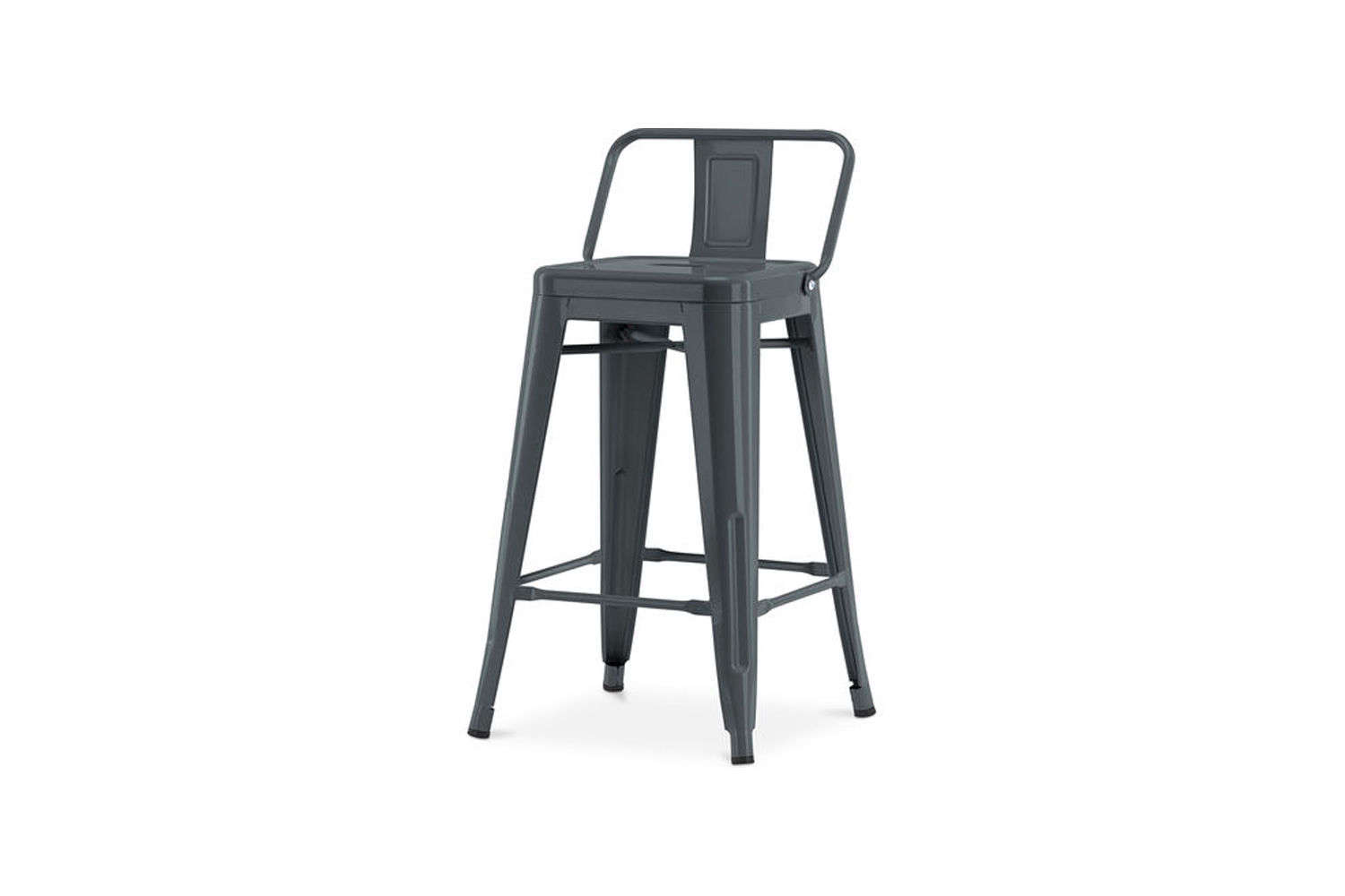 The classic industrial stool, the Tolix Tabouret HA Stool, comes in a wide range of colors; €3 at Tolix.