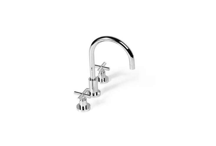 10 Easy Pieces Modern DeckMounted Bath Faucets Dornbracht Tara Three Hole Basin Mixer with Handles