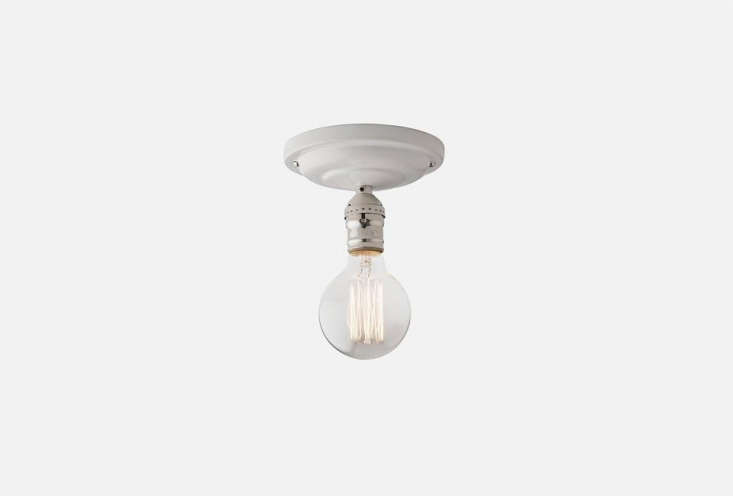 thedefiance ceiling fixture in range of finishes is \$\109 at schoolhouse ele 10