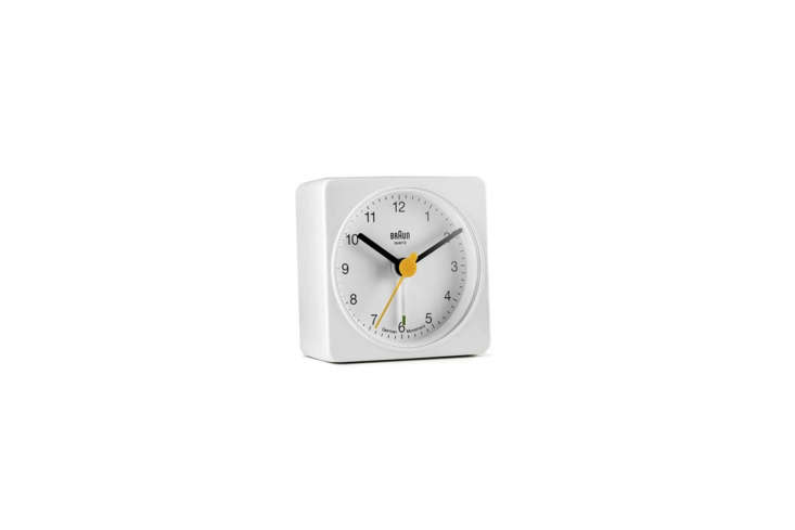 The Braun Classic Analog Quartz Alarm Clock (BNC00