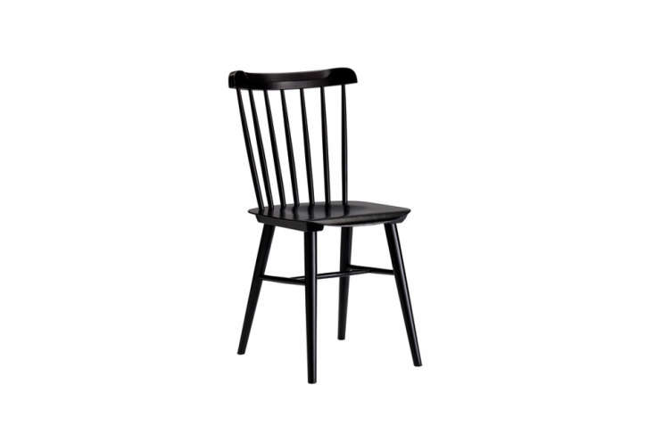 the compact, glossy black paintedsalt chair is \$\1\29 at design within reach. 9