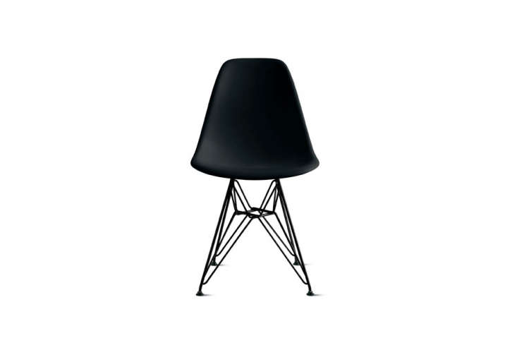 theeames molded plastic side chair with chrome base; \$3\29 at design within  17