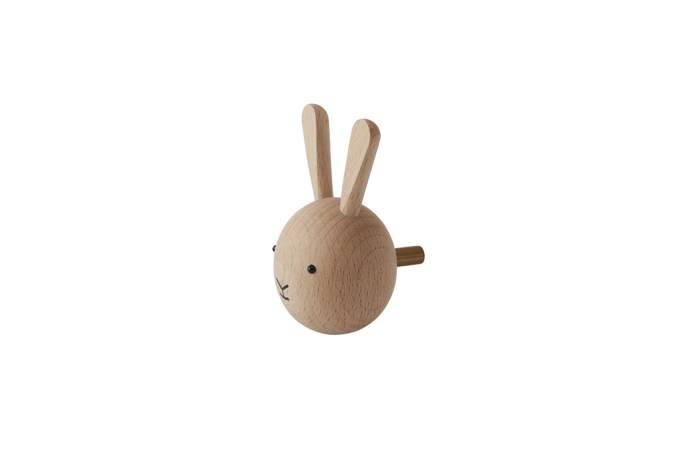 Oyoy Wooden Rabbit Hook Natural