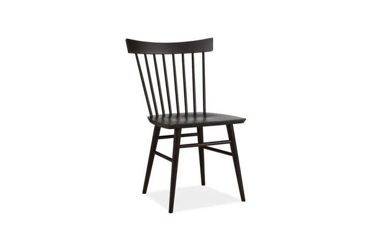 the nakashima inspiredthatcher chair in solid maple with an ebony stain is ma 16