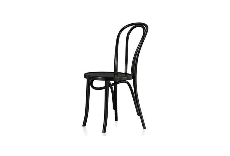 the classic black lacquered beechwood thonet vienna side chair is \$\109 at cra 14