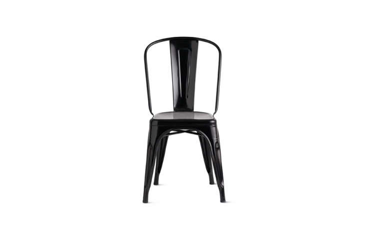 the tolix marais a chair in glossy black enamel is \$\275 at design within reac 10