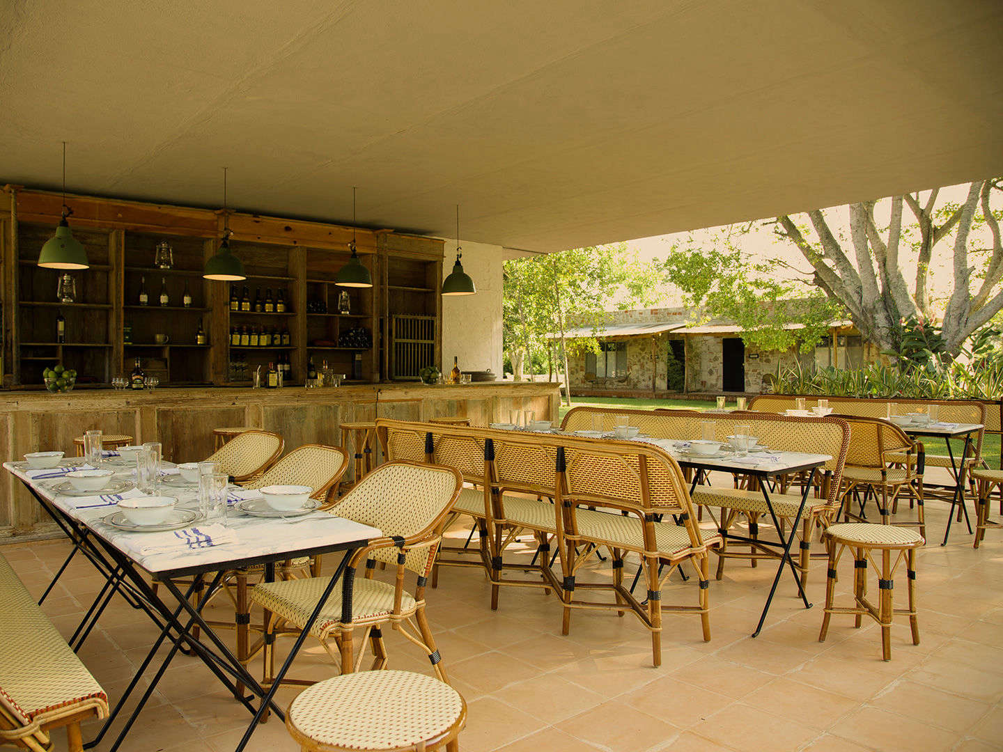 The restaurant also caters meals outdoors.