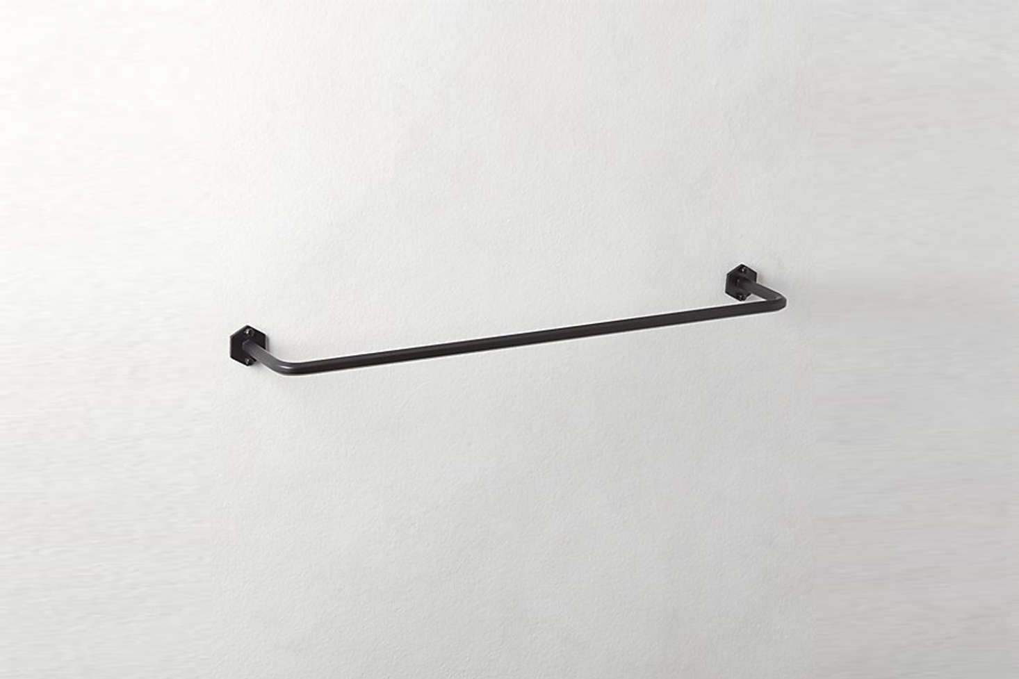 The Hex Matte Black Towel Bars range from $34.39 to $54.95 at CB