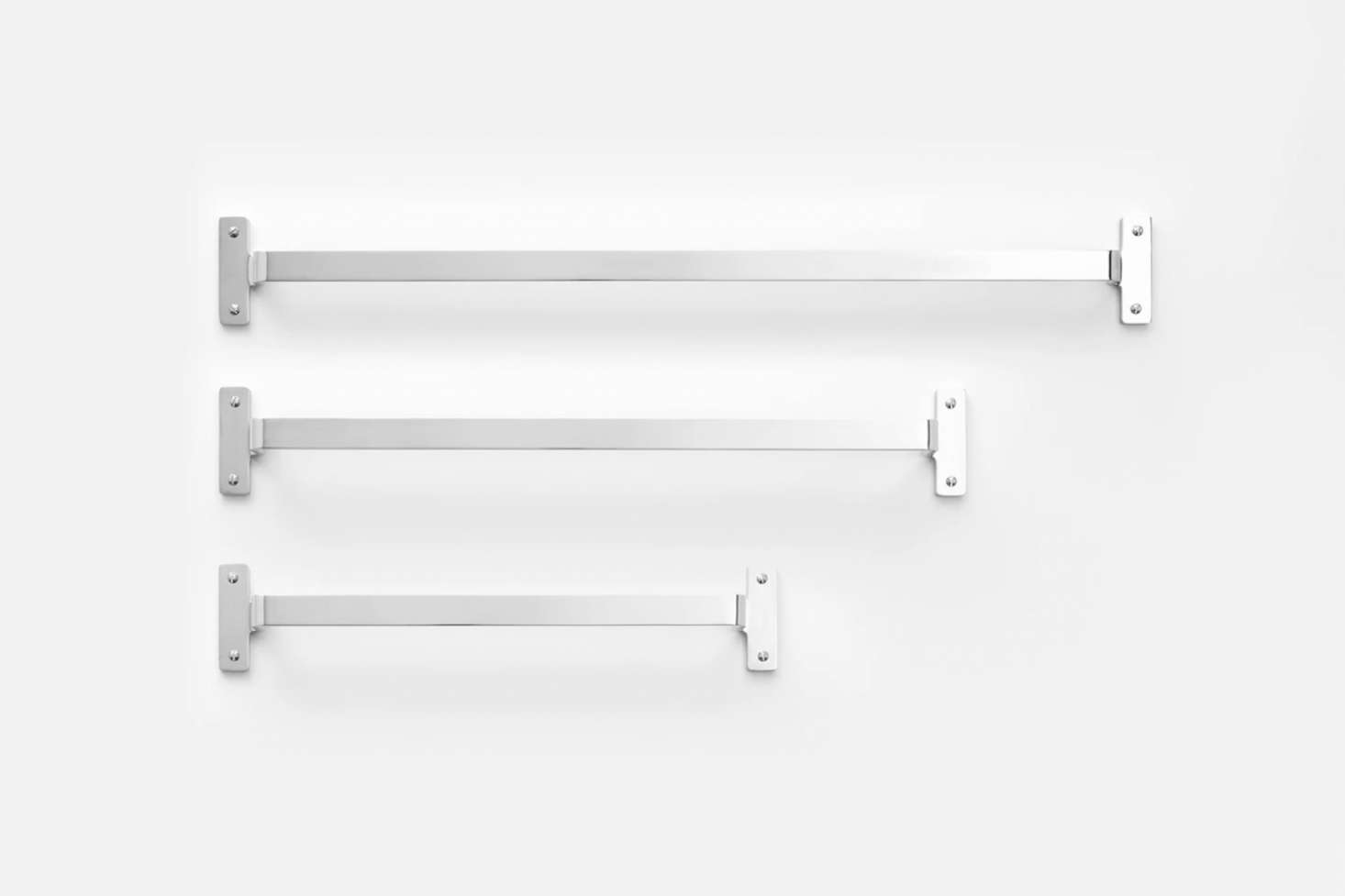 The Schoolhouse Nicolai Towel Bar, shown in Polished Nickel, starts at $9.