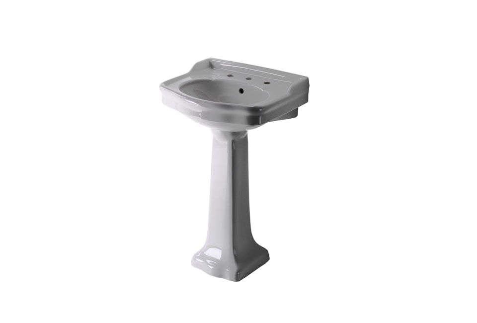waterworks palladio vitreous china pedestal lavatory sink 10