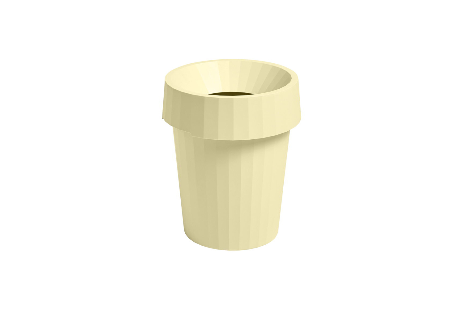 The HAY Shade Bin in Soft Yellow is $37.40 at Finnish Design Shop.