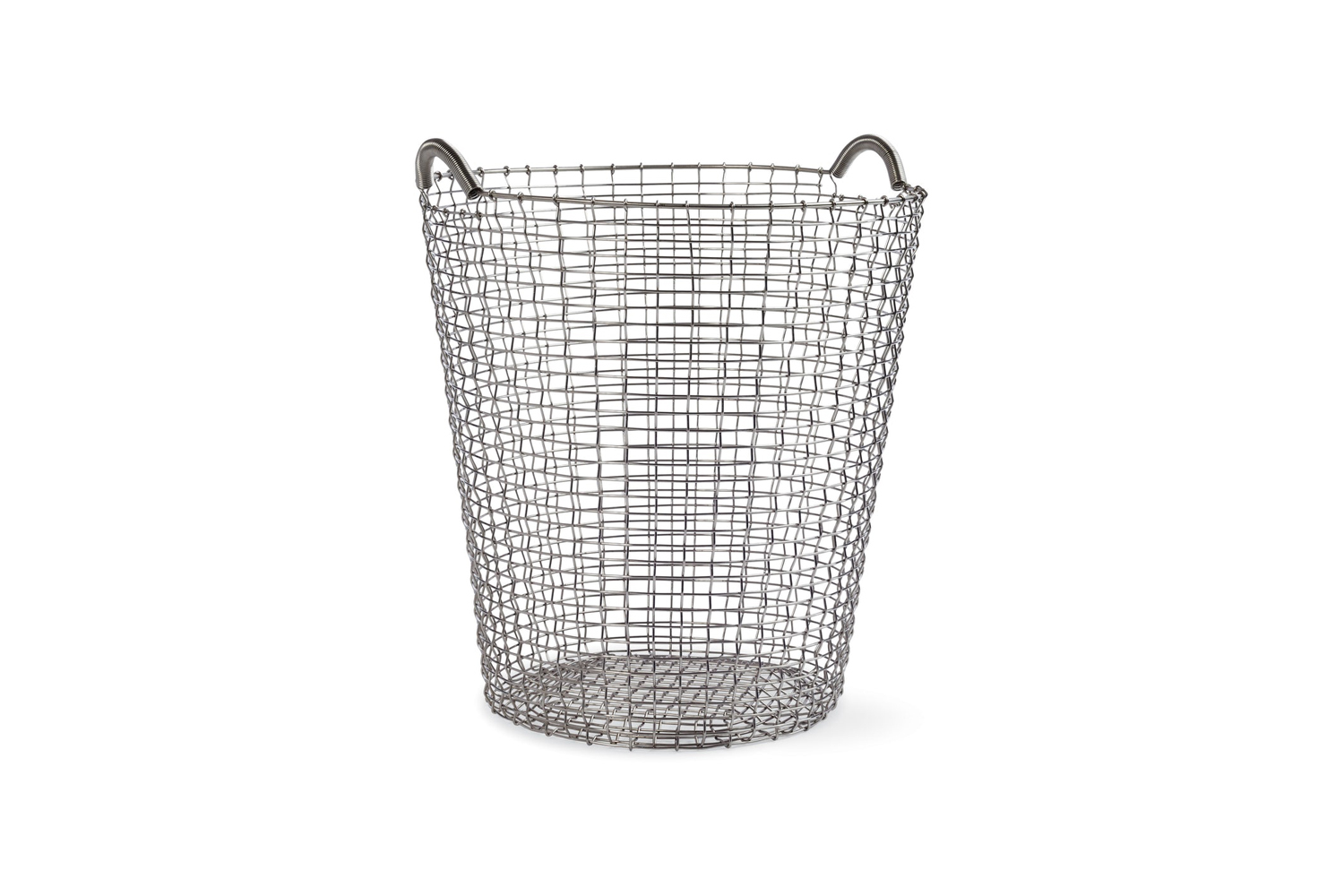 The weighty Korbo Handmade Wire Basket is made from heavy gauge acid-proof stainless steel in Sweden; $5 for the oversized 80 size at Design Within Reach.