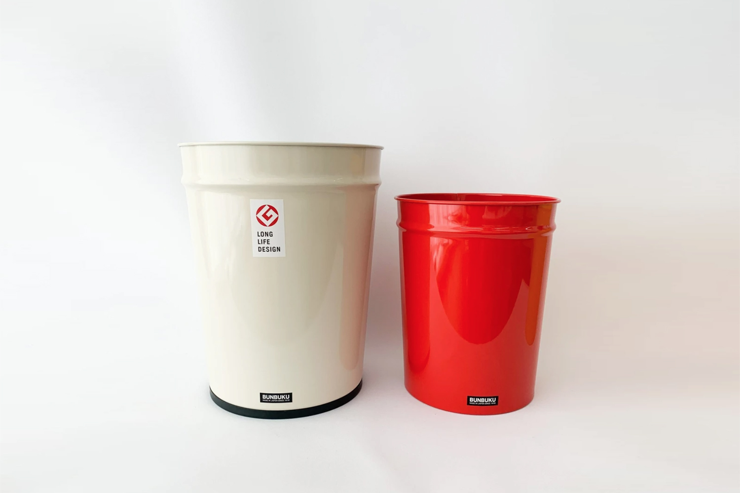 From Japanese company Bunbuku, the Metal Trash Bin is available in two sizes and in grey, white, or red starting at $30 from Tortoise General Store.