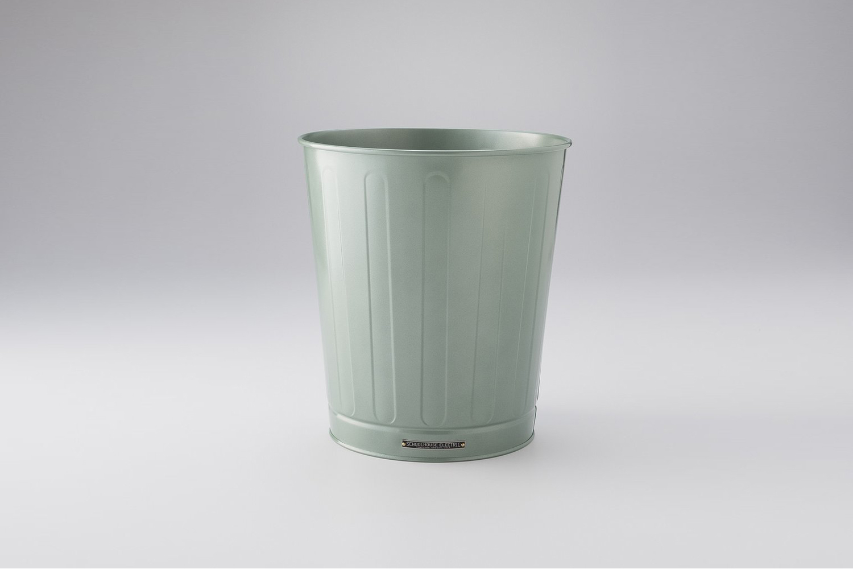 The Schoolhouse Steel Waste Basket, shown in Spruce Green, is $99.