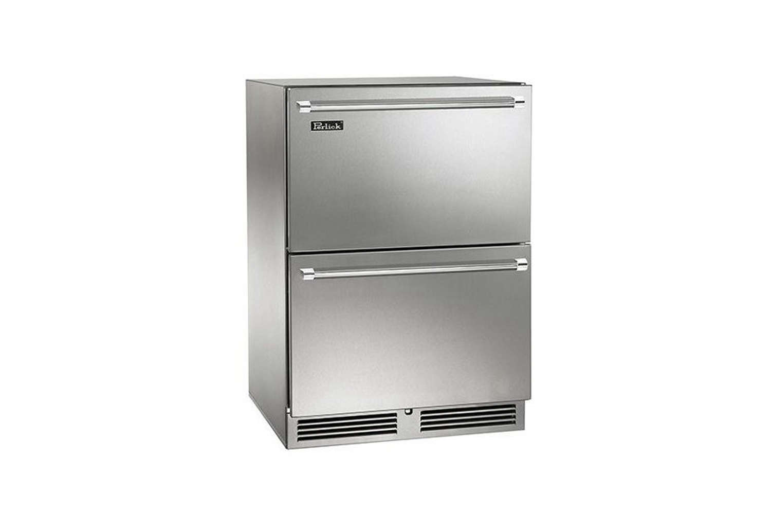 10 Easy Pieces Choosing An Undercounter Refrigerator The Perlick \24 Inch Outdoor Undercounter Freezer Refrigerator Drawers (HP\24ZO35) can be used indoors or out; \$4,999 at AJ Madison.