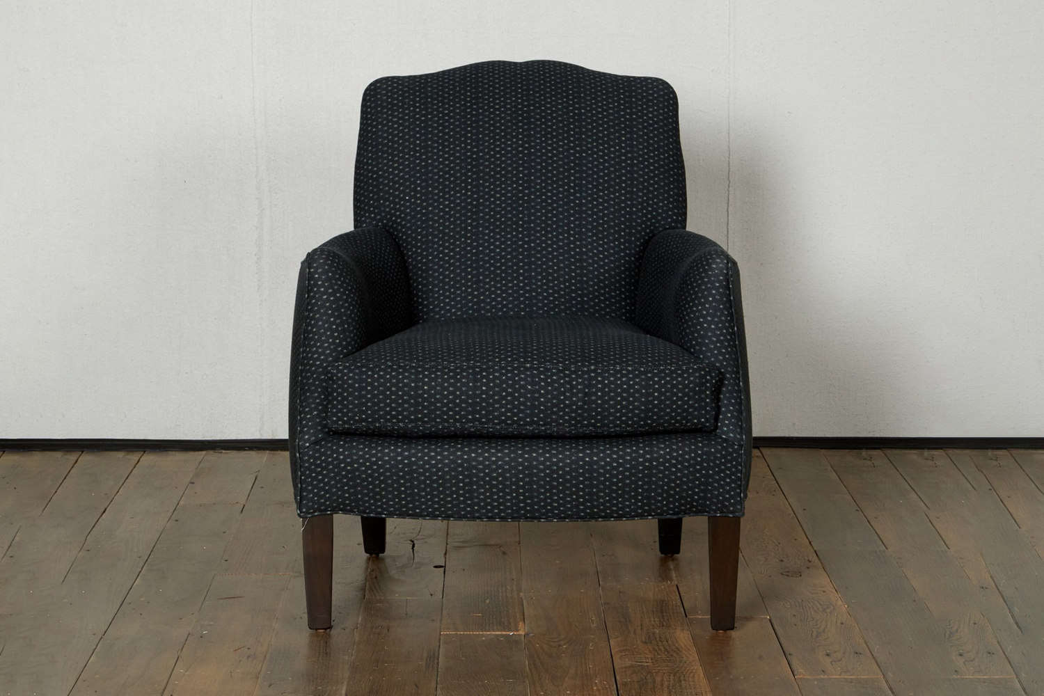 Another style from Cisco Home, the Sebastian Chair, shown in Tori Indigo, comes in a full range of Cisco upholstery fabrics; $