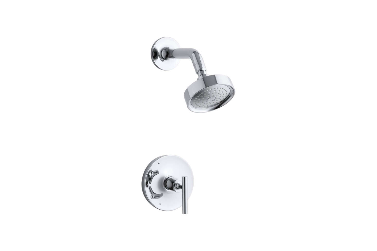Los Angeles-based Commune specified Kohler Stillness shower faucets in the baths at the Ace Hotel in Palm Springs. While not the Stillness line, the Kohler Purist Rite Temp Shower Faucet has a similar minimal look; $363.7src=