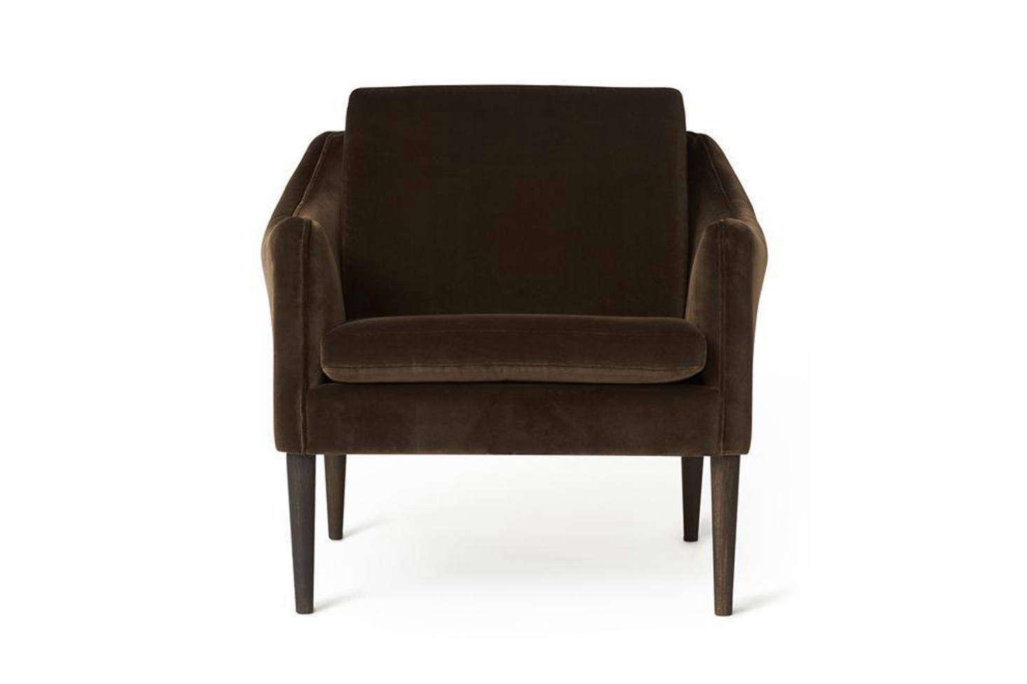 Designed by Hans Olsen for Warm Nordic, the Mr Olsen Lounge Chair comes in 8 different velvet upholstery fabrics; $3,