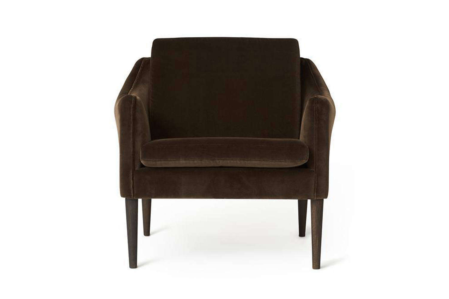 Designed by Hans Olsen for Warm Nordic, the Mr Olsen Lounge Chair comes in 8 different velvet upholstery fabrics; $3,