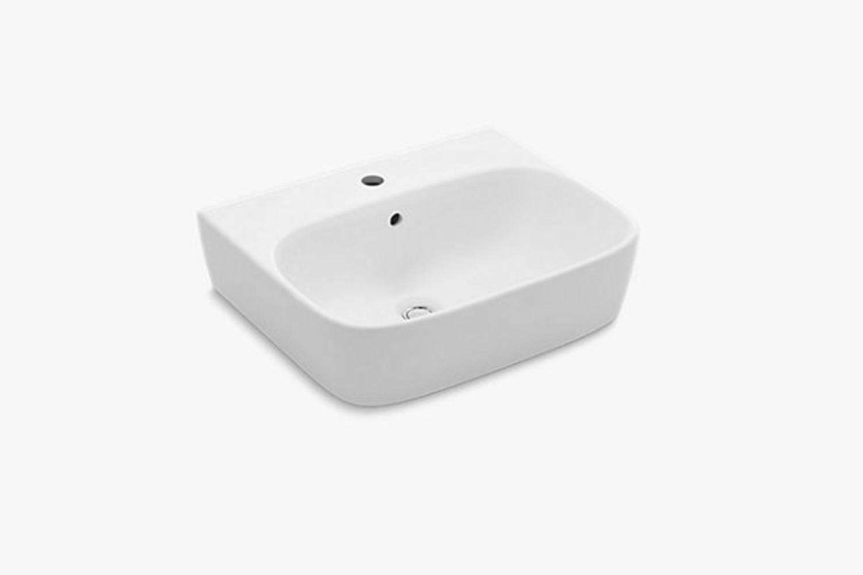 the kohler modernlife wall mount bathroom sink is \$\200 at kohler. 12