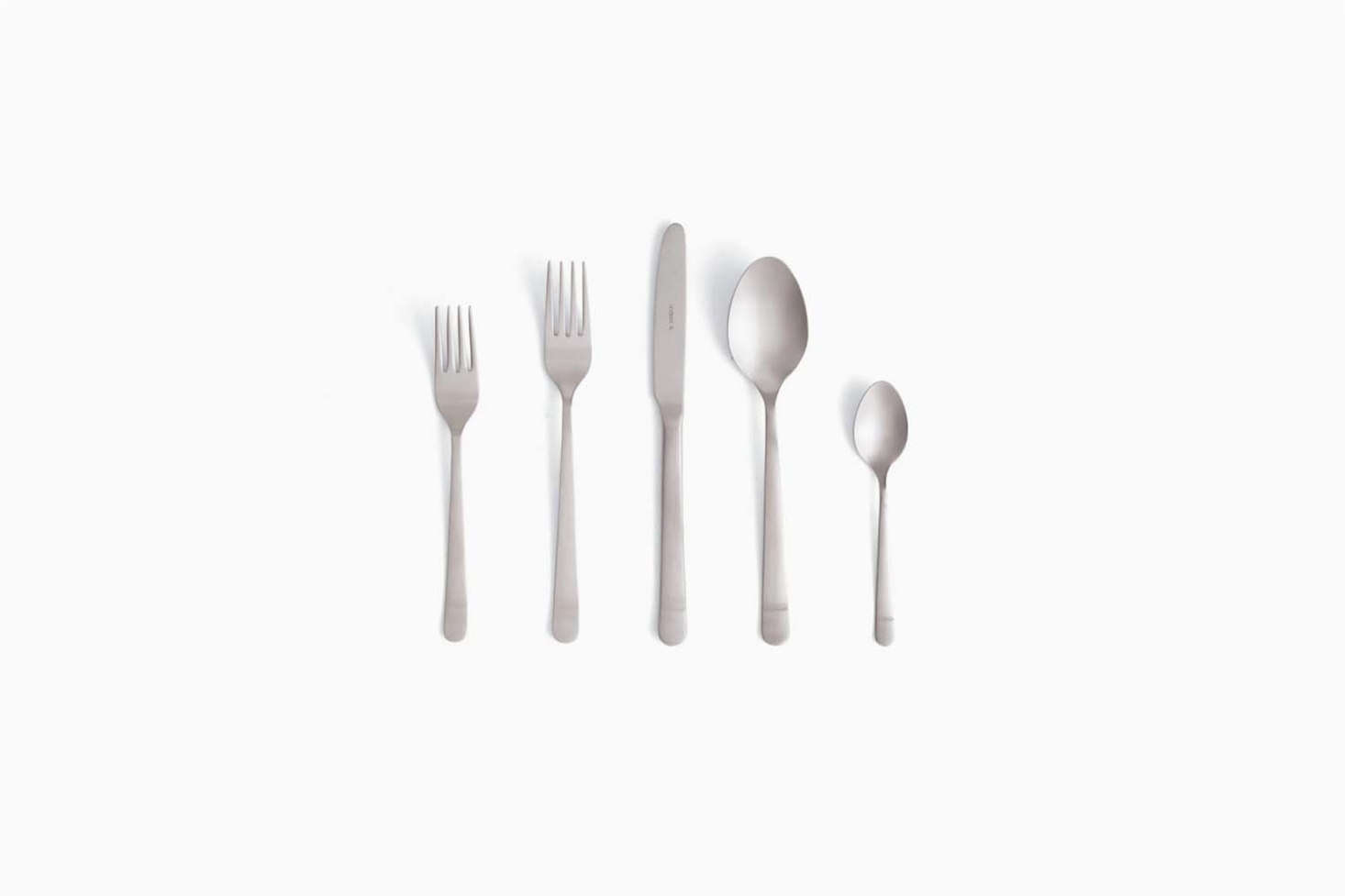 Julie favors the Almoco Silver Stainless Flatware made by a third-generation, family-run business in Portugal; $src=