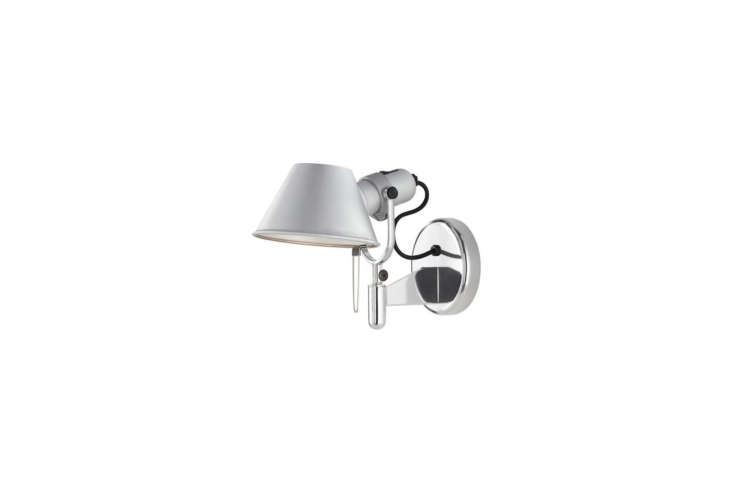 The essential Tolomeo as a sconce: Designed by Giancarlo Fassina and Michele de Lucchi for Artemide, the Tolomeo Classic Wall Spot Light is $5 at YLighting. For a new design idea involving this sconce see our post Design Sleuth: The Tolomeo Takes a Turn.