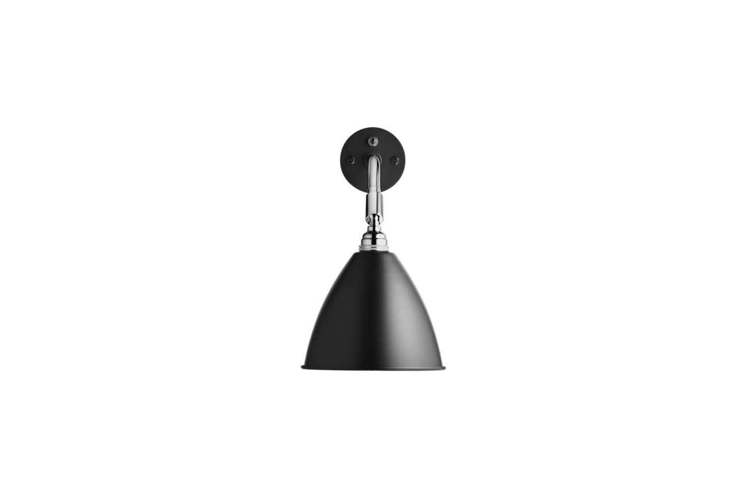 The Bestlite BL7 Wall Sconce comes in black or white with a Chrome (shown) or Brass finish; $4-$495 at Horne.