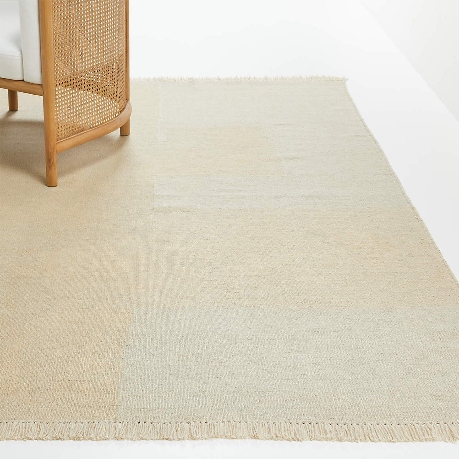crate & barrel&#8\2\17;s ghost ranch flatweave rug ranges from \$599 to 14