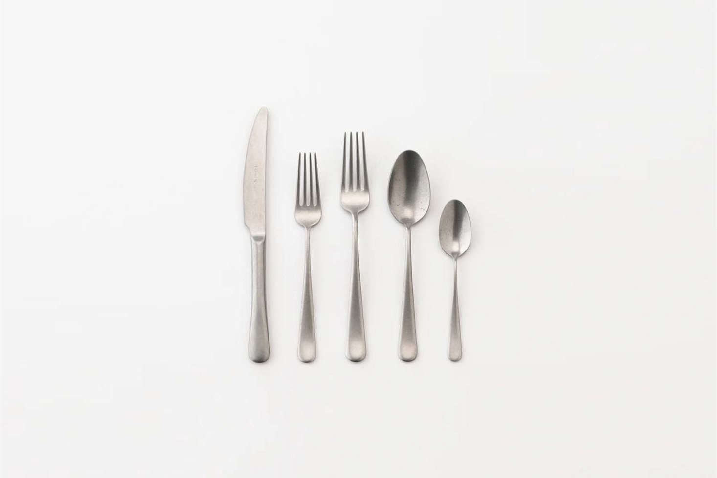 The simple set of stainless steel Everyday Flatware is $58 at Schoolhouse.
