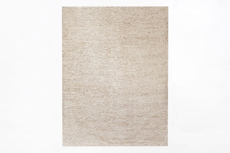 west elm&#8\2\17;s mini pebble wool jute rug in natural/ivory is \$60 to \$ 17